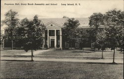 Hegeman Hall, Stony Brook Assembly and School Postcard