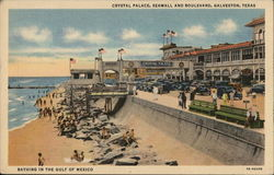Crystal Palace, Seawall and Boulevard Postcard