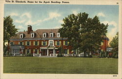Villa St. Elizabeth, Home for the Aged Postcard
