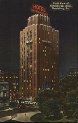 Night View of Harrisburger Hotel