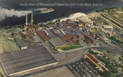 Aerial View of Hammermill Paper Co., East lake Road Postcard