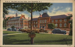 City Hall and Post Office Postcard