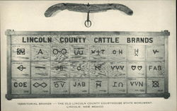 Display of Territorial Cattle Brands