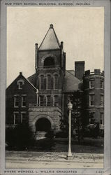 Old High School Building Postcard
