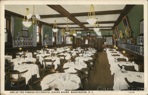 One of the Famous Occidental Dining Rooms Washington District of Columbia
