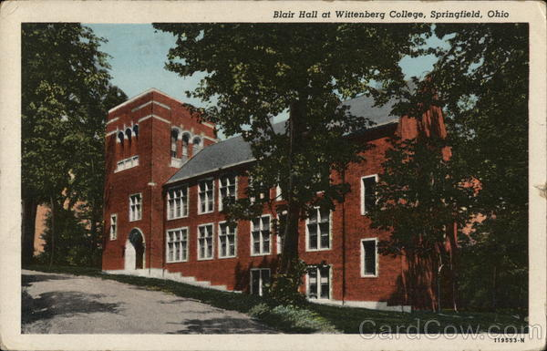 Blair Hall at Wittenberg College Springfield Ohio