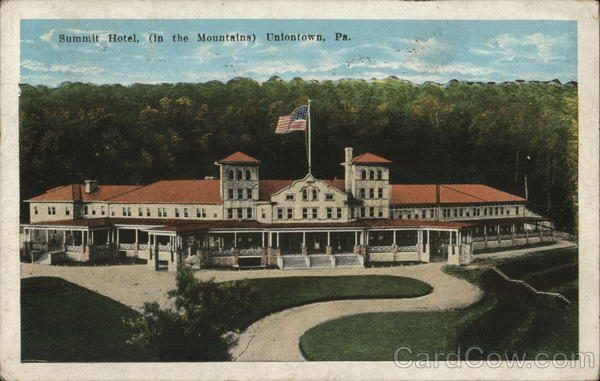summit hotel uniontown pa postcard. Black Bedroom Furniture Sets. Home Design Ideas