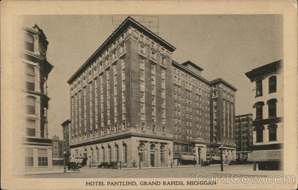 hotel pantlind grand rapids mi postcard. Black Bedroom Furniture Sets. Home Design Ideas