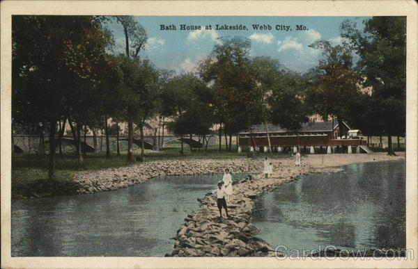 Bath House at Lakeside Webb City Missouri