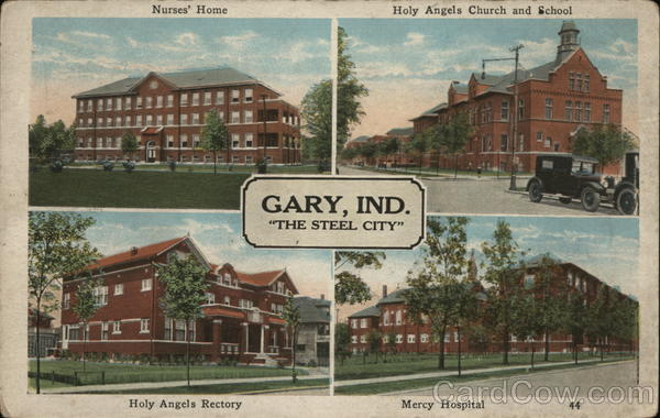 4 Views of Gary, Ind., The Steel City Indiana