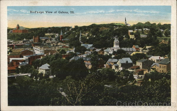 Bird's-eye View of Galena Illinois