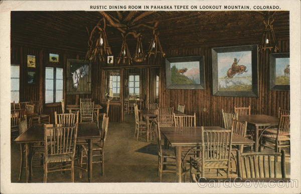 Rustic Dining Room in Pahaska Tepee Lookout Mountain Colorado