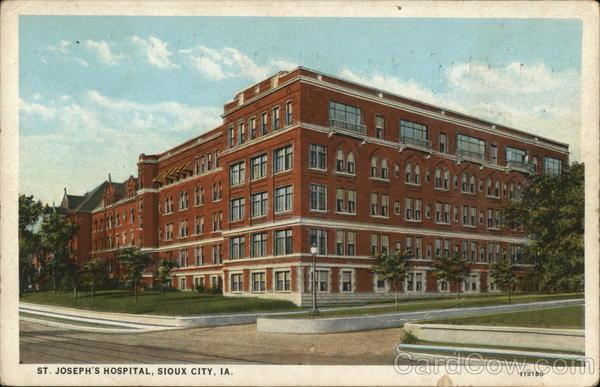 St Joseph S Hospital Sioux City Ia Postcard