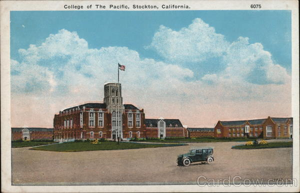 College of the pacific stockton ca postcard for Shirt printing stockton ca