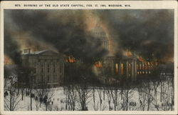 The Burning of the Old State Capitol, Feb. 27, 1904
