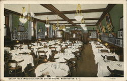 One of the Famous Occidental Dining Rooms