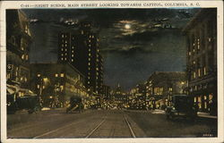 Night Scene, Main Street Looking Towards Capitol