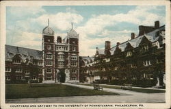 Courtyard and Gateway to University of Pennsylvania