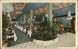 Front Dining Room, Green's Hotel, Eighth and Chestnut Streets
