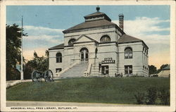 Memorial Hall, Free Library