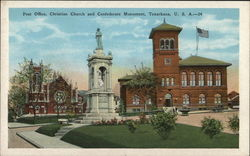 Post Office, Christian and Confederate Monument