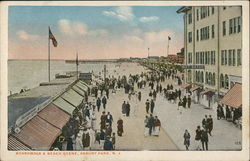 Boardwalk & Beach Scene