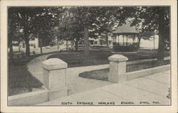 South Entrance, Highland Common Postcard