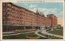 New Chicago Beach Hotel Postcard