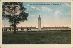 Infantry an Cavalry Barracks Postcard