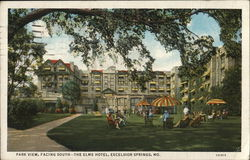 Park View, Facing South - The Elms Hotel Postcard