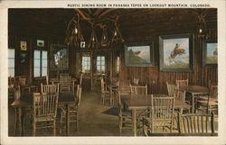Rustic Dining Room in Pahaska Tepee