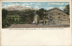 The Acacia Hotel Showing Pikes Peak in Background