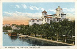 The Alba Hotel from Lake Worth Postcard