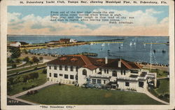 St. Petersburg Yacht Club, Tampa Bay, showing Municipal Pier