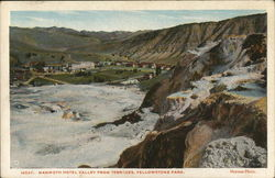 Mammoth Hotel Valley from Terraces, Yellowstone Park