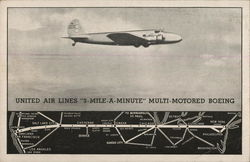 United Air Lines 3-Mile-A-Minute Multi-Motored Beoing
