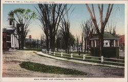 Main Street and Common Postcard