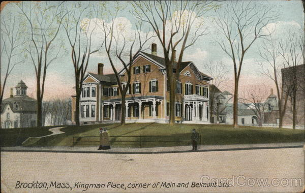 Kingman Place, Corner of Main and Belmont Sts. Brockton Massachusetts
