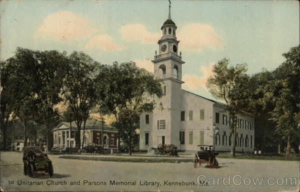 1st Unitarian Church and Parsons Memorial Library Kennebunk Maine