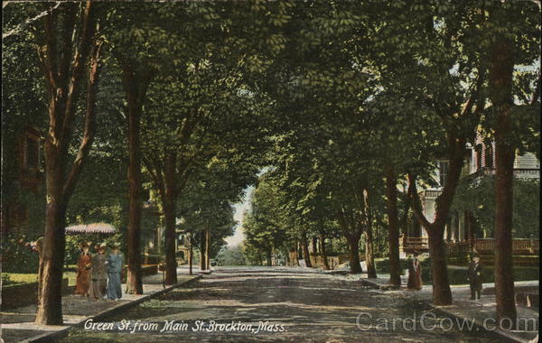 Green St. from Main St. Brockton Massachusetts