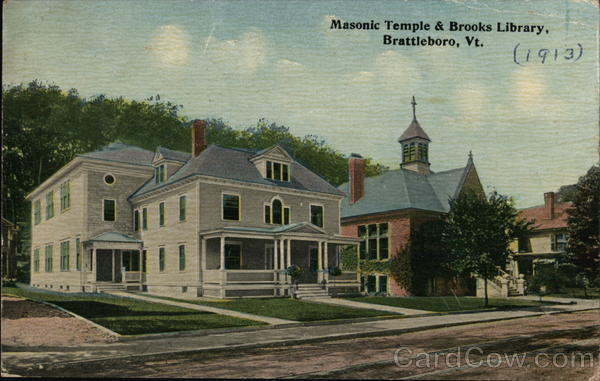 Masonic Temple & Brooks Library Brattleboro Vermont