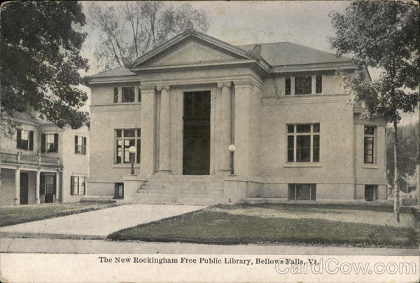 The New Rockingham Free Public Library Bellows Falls Vermont