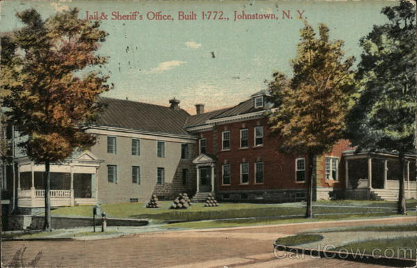 Jail & Sheriff's Office, Built 1772 Johnstown New York