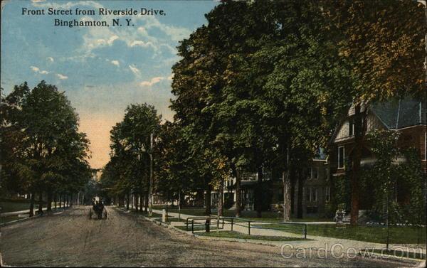 Front Street from Riverside Drive Binghamton New York