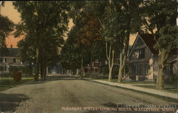 Pleasant Street, Looking South Waterville Maine