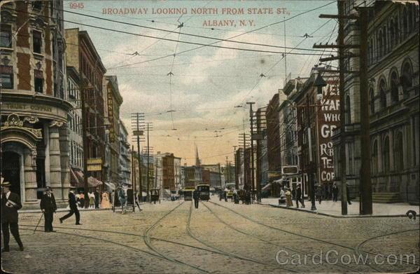 Broadway Looking North from State St. Albany New York