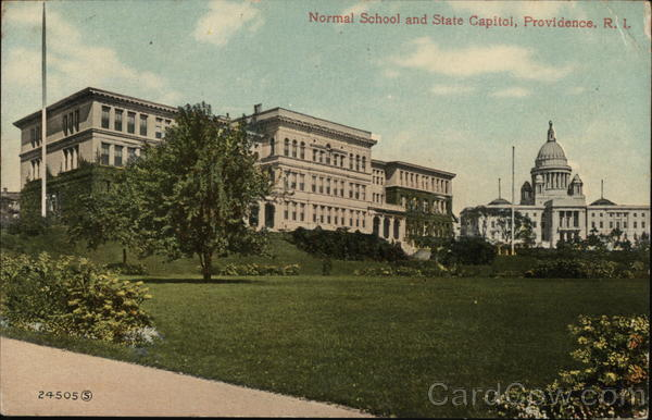 Normal School and State Capitol Providence Rhode Island
