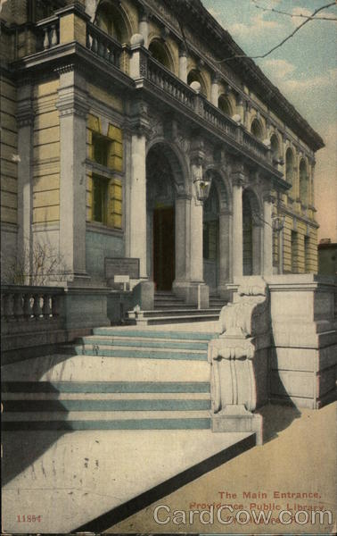 The Main Entrance, Providence Public Library Rhode Island
