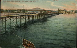 Old Orchard Beach, ME. Pier From End