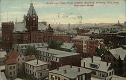 Birds - eye View from Anglim Building showing City Hall